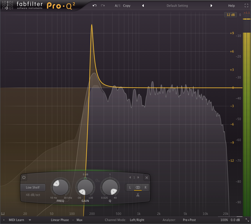 FabFilter linear phase