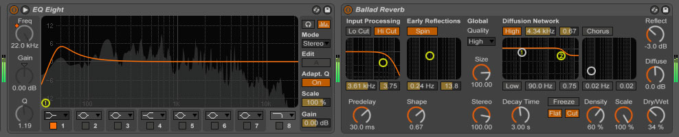 EQ and reverb