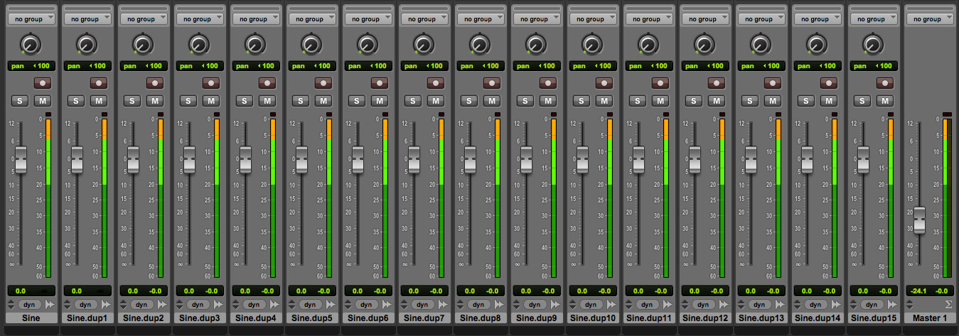 Master set at -24 dB
