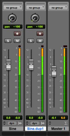 Master set at -6.1 dB