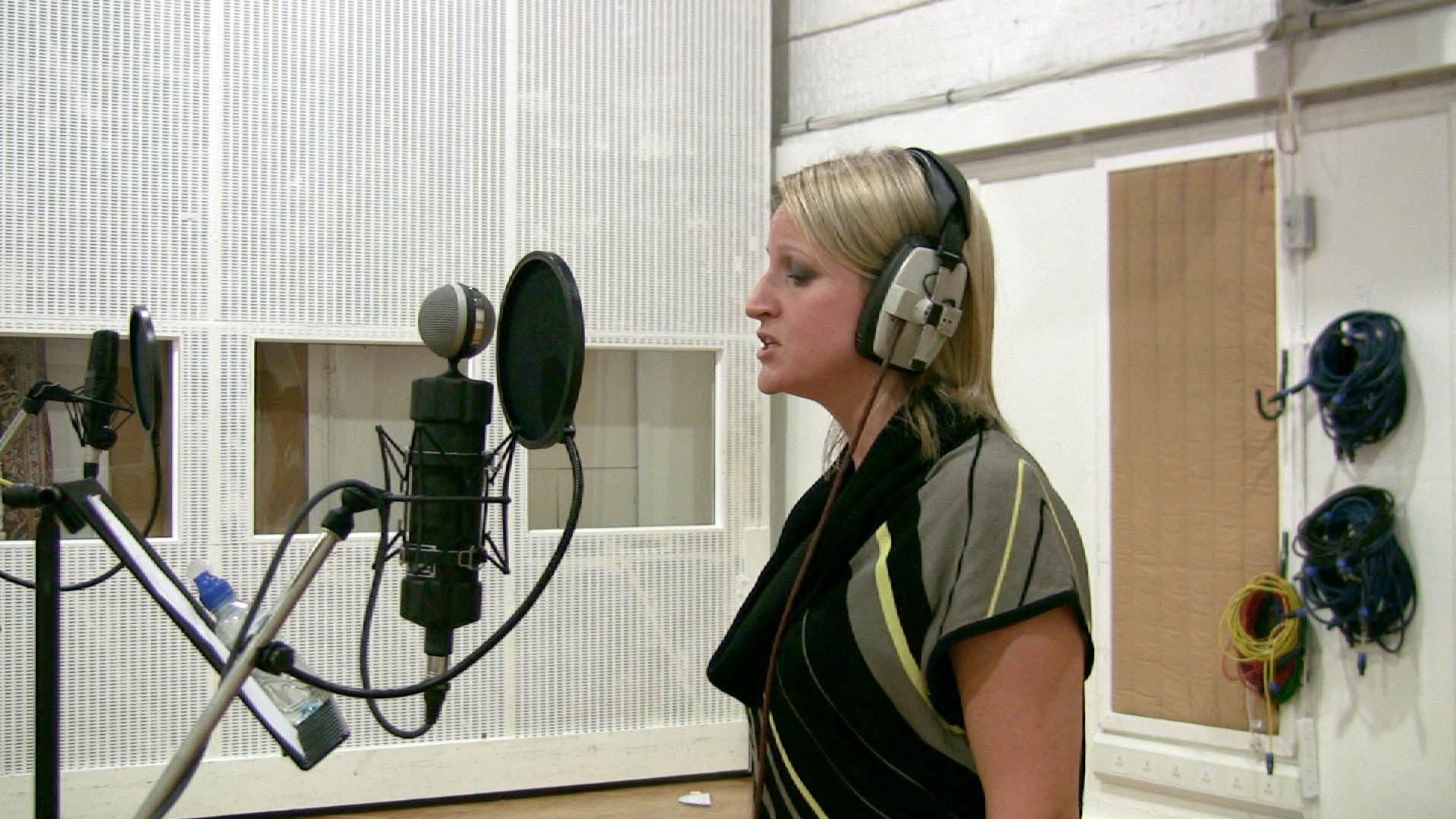 Singer in studio